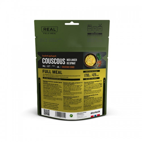REAL Drytech - Couscous mit Linsen und Spinat FULL MEAL