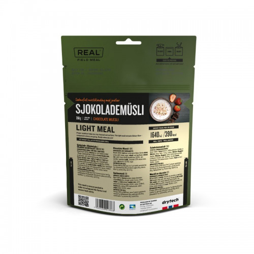 REAL Drytech - Schokoladenmüesli LIGHT MEAL