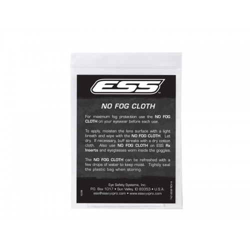 ESS - Reusable NO FOG Cloths