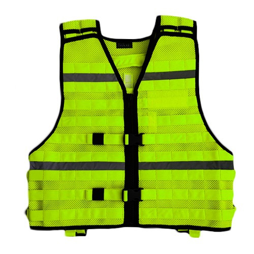 DIVICUS - Reflective MOLLE vest Yellow-Lime