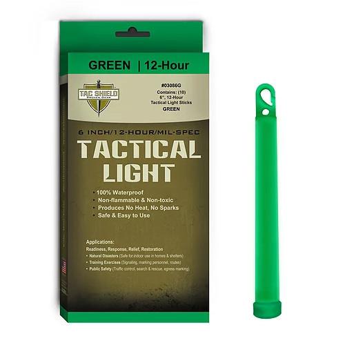 TAC SHIELD - Tactical Lightstick Green (10 Piece Box)