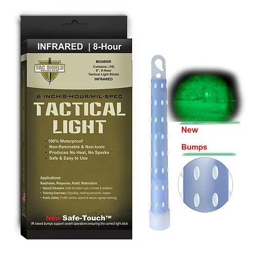 TAC SHIELD - Tactical Lightstick Infrared (10 Piece Box)