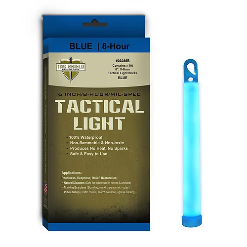 TAC SHIELD - Tactical Lightstick Blue (10 Piece Box)