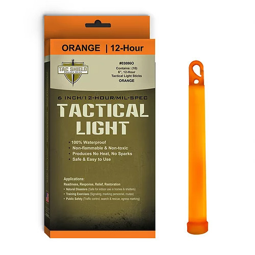 TAC SHIELD - Tactical Lightstick Orange (10 Piece Box)