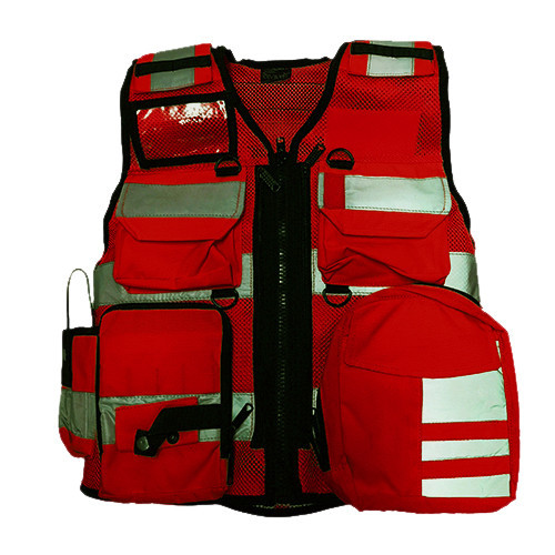 DIVICUS - Reflective vest PRO Red
