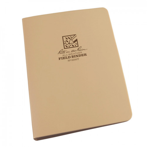 "Rite in The Rain - RING BINDER – 1/2"" Capacity Tan"