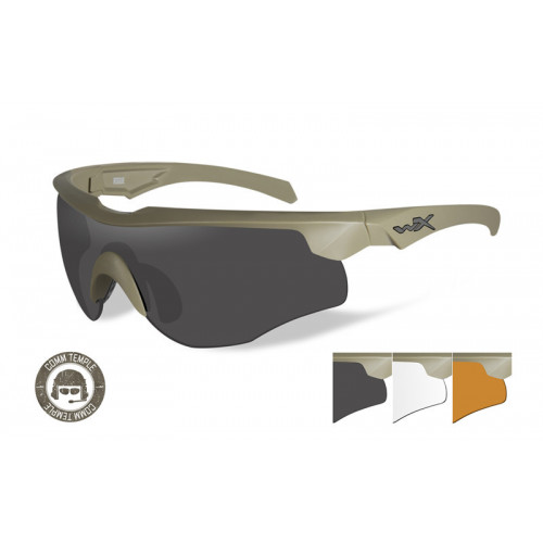 WILEY X - ROGUE COMM Grey/Clear/Rust Matte Tan Frame