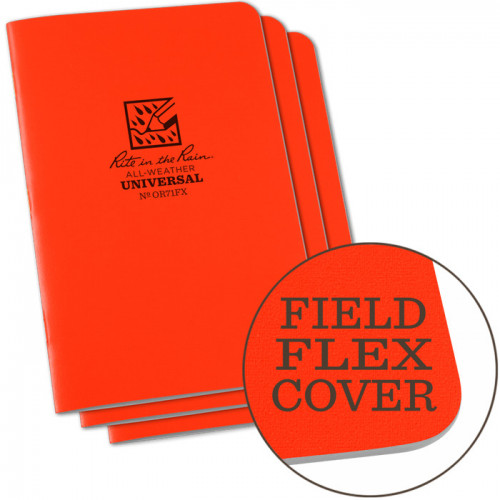 Rite in The Rain - Stapled Notebook Orange OR71FX