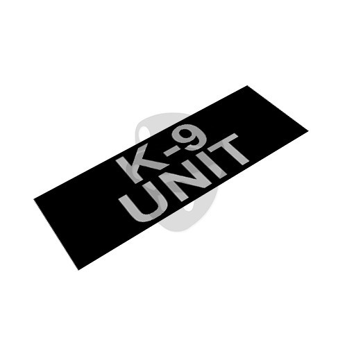 "OTD - Reflective Patch ""K-9 UNIT"""