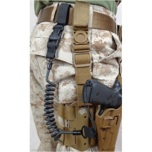 Tac Shield - Tactical Pistol Lanyard Black