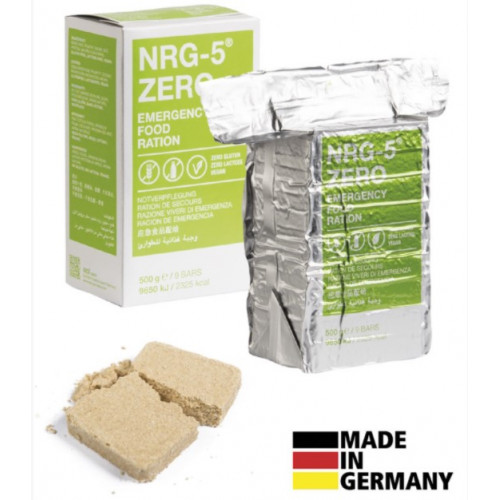 Trek'n Eat - NRG-5 ZERO EMERGENCY FOOD RATION, 500 g, (9 bars)