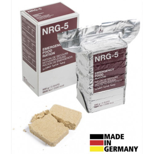 Trek n'Eat - Emergency Rations, NRG-5, 500 g, (9 bars)