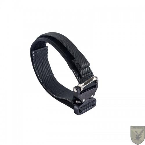 MD-Textil - Working Dog Collar 45mm Magnet Handle Black