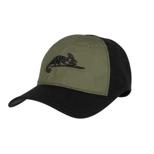 Helikon Tex - Logo CAP - Polycotton Ripstop BLACK/OLIVE GREEN