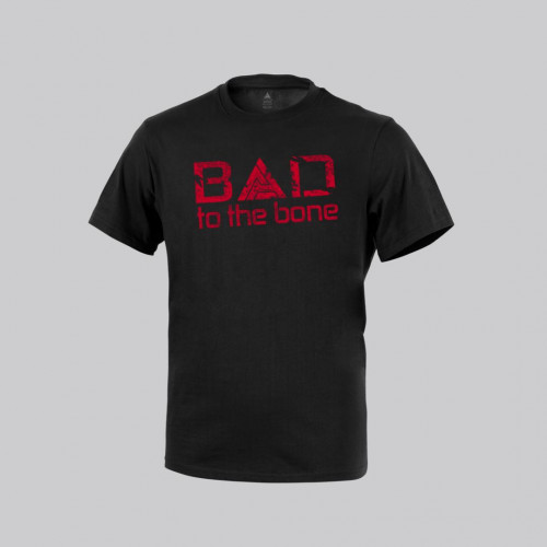 """Direct Action - T-SHIRT """"Bad to the Bone"""" - Black"""